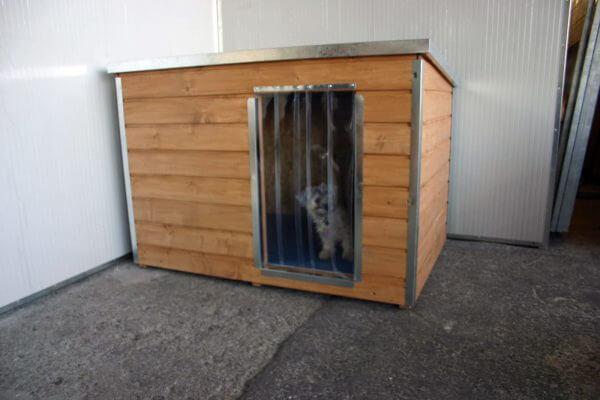 Foto Hundehütte Madera-XXL-Schrägdach Eingang lange Seite