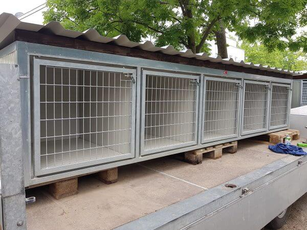 Vereins Trainingsbox mit Dachblech